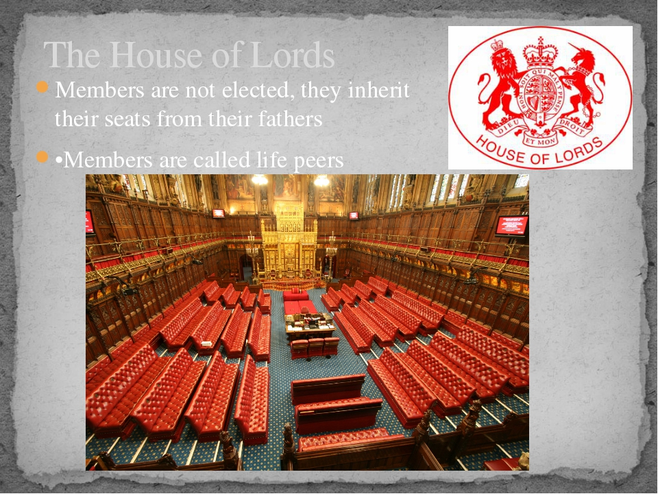 Members are not elected, they inherit their seats from their fathers •Members...