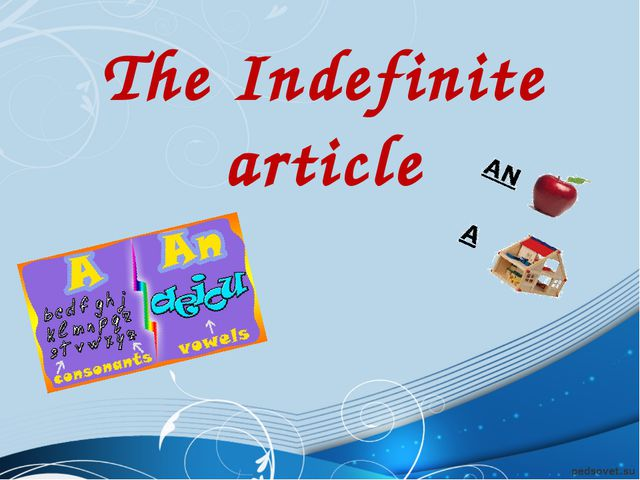 The Indefinite article
