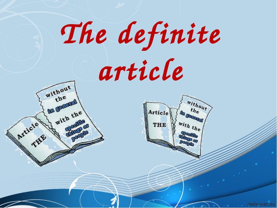 The definite article