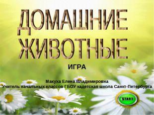 ИГРА Макуха Елена Владимировна Учитель начальных классов ГБОУ кадетская школа