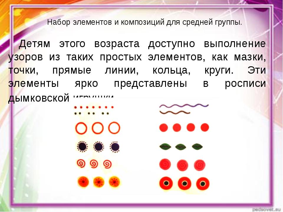 Набор элементов и композиций для средней группы. Детям этого возраста доступн...