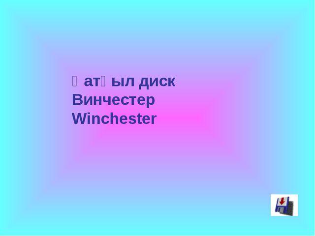 Қатқыл диск Винчестер Winchester
