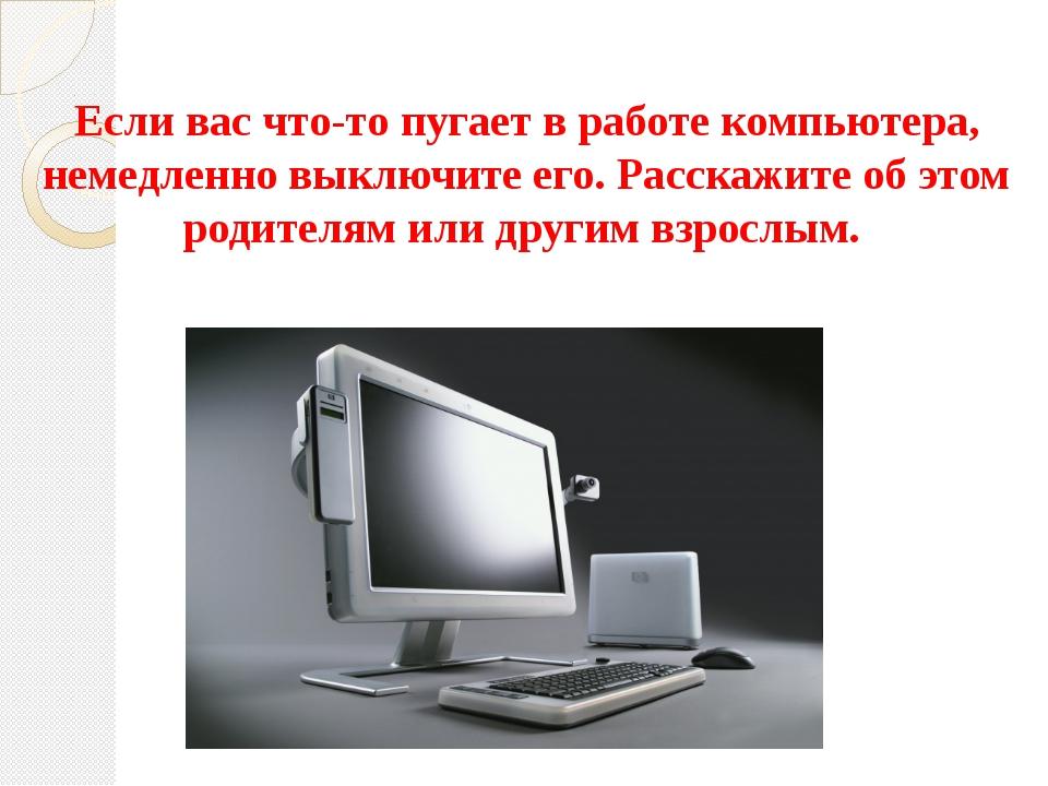 Если вас что-то пугает в работе компьютера, немедленно выключите его. Расскаж...