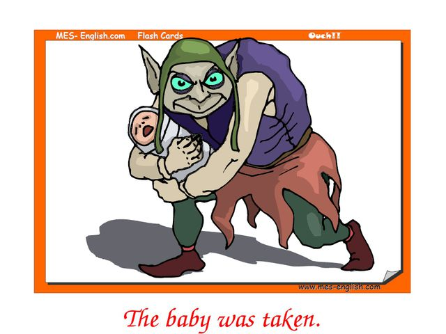 The baby was taken.