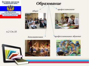 профессиональное Образование п.2 Ст.10 дополнительное профессиональное обучен