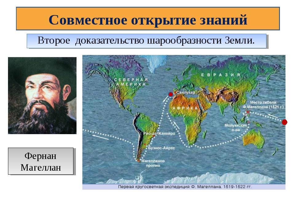 Совместное открытие знаний Второе доказательство шарообразности Земли. Фернан...