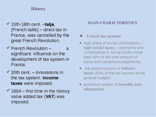 Three main taxes Income Tax (on individuals) VAT (Value Added Tax) Taxon Prof