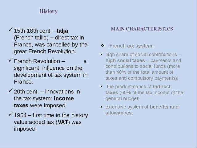 Three main taxes Income Tax (on individuals) VAT (Value Added Tax) Taxon Prof...