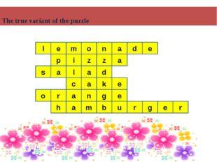 The true variant of the puzzle m d l e e p i z z a l a s a d c a e k o n g a