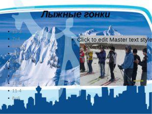 Лыжные гонки 13-3 7+4 64-60 4+7 90+8 15-9 6+6 12-5 11-4 8+6
