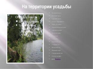 На территории усадьбы Большой пруд Нижний пруд Средний пруд Аллея «Прешпект»