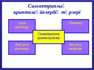 Симметриялық криптожүйелердің түрлері