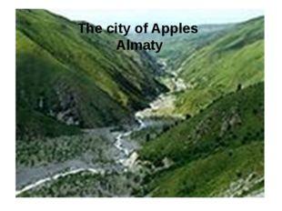 The city of Apples Almaty
