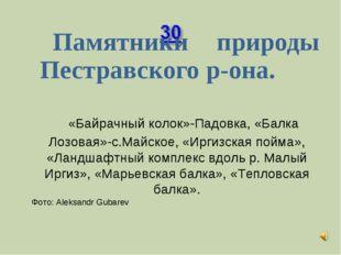 Памятники природы Пестравского р-она. «Байрачный колок»-Падовка, «Балка Лоз