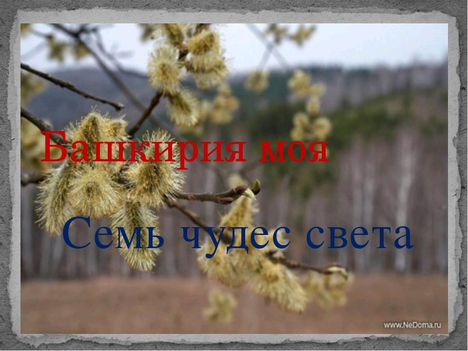Семь чудес света Башкирия моя