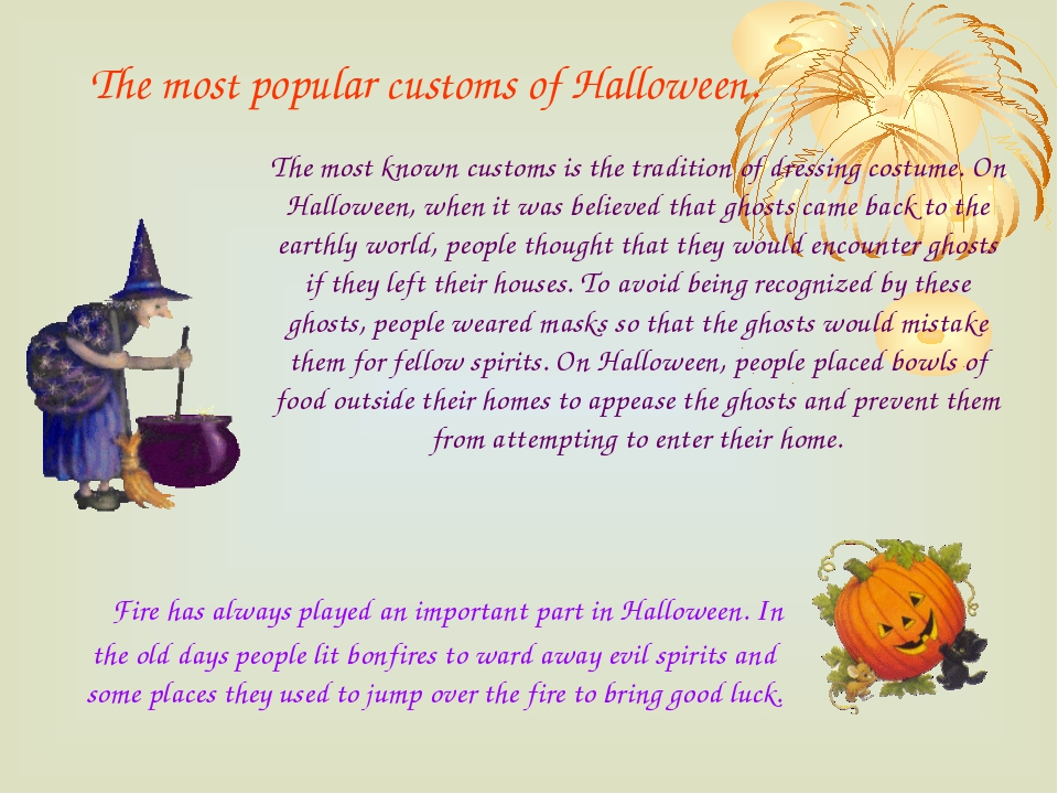 The most popular customs of Halloween. Fire has always played an important pa...