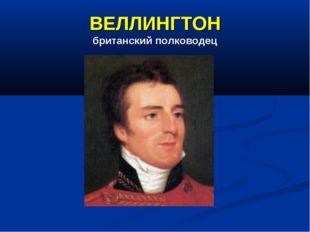 ВЕЛЛИНГТОН британский полководец