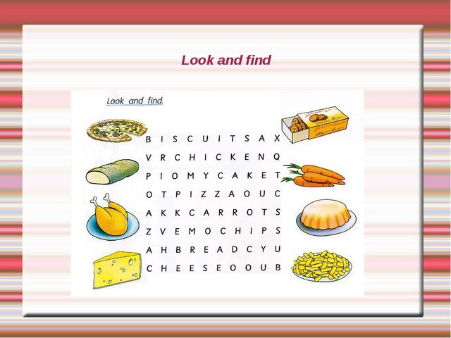 Look and find