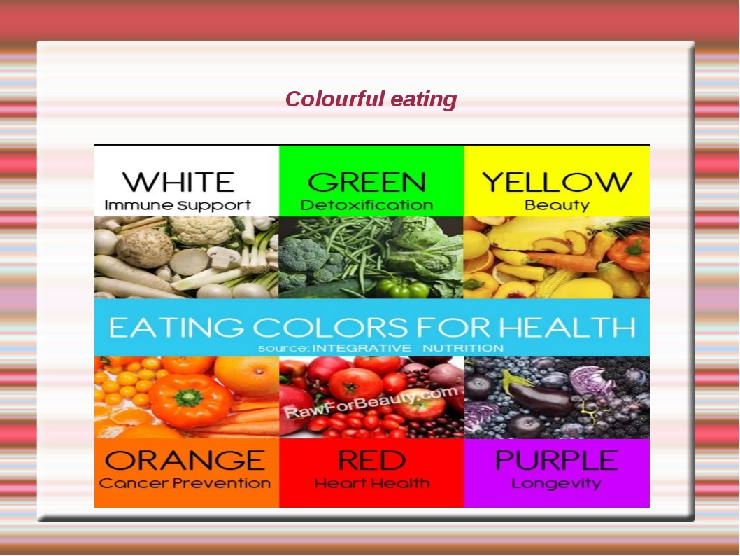 Colourful eating