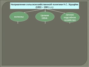 Направления сельскохозяйственной политики Н.С. Хрущёва (1953 – 1961 г.г.) лич