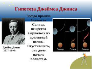Гипотеза Джеймса Джинса Звезда прошла близко от Солнца, вещество вырвалось из