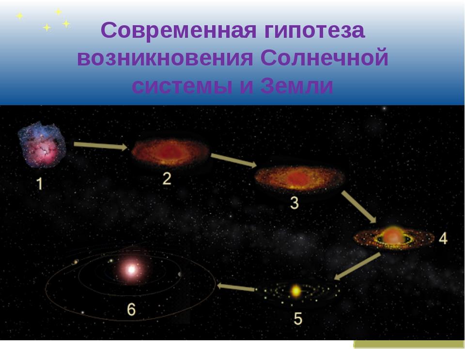 Современная гипотеза возникновения Солнечной системы и Земли