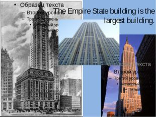 The Empire State building is the largest building.
