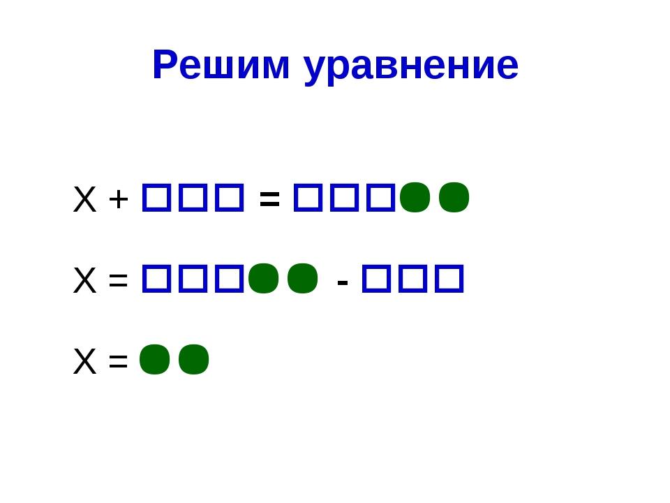 Решим уравнение Х +  =  Х =  -  Х = 