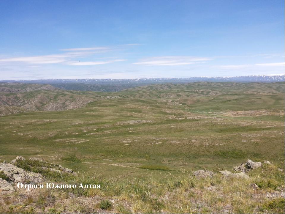 Отроги Южного Алтая