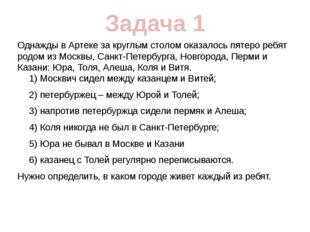 Однажды в Артеке за круглым столом оказалось пятеро ребят родом из Москвы, Са