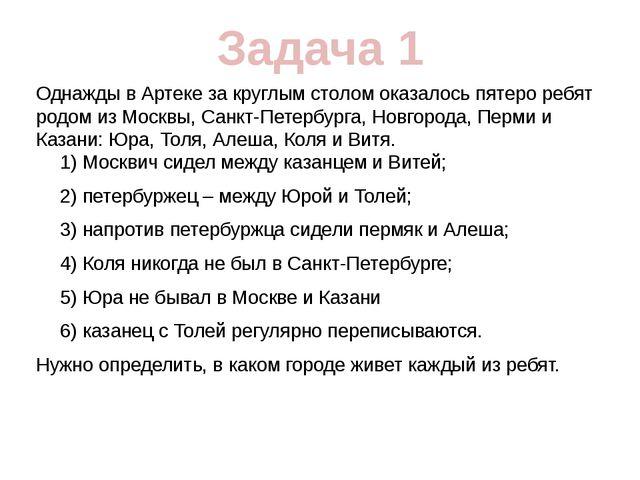 Однажды в Артеке за круглым столом оказалось пятеро ребят родом из Москвы, Са...