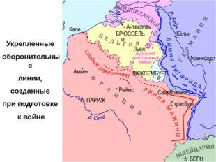 Укрепленные оборонительные линии, созданные при подготовке к войне