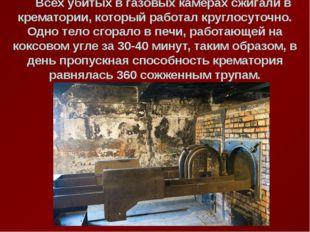 Всех убитых в газовых камерах сжигали в крематории, который работал круглосу