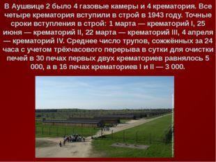 В Аушвице 2 было 4 газовые камеры и 4 крематория. Все четыре крематория вступ