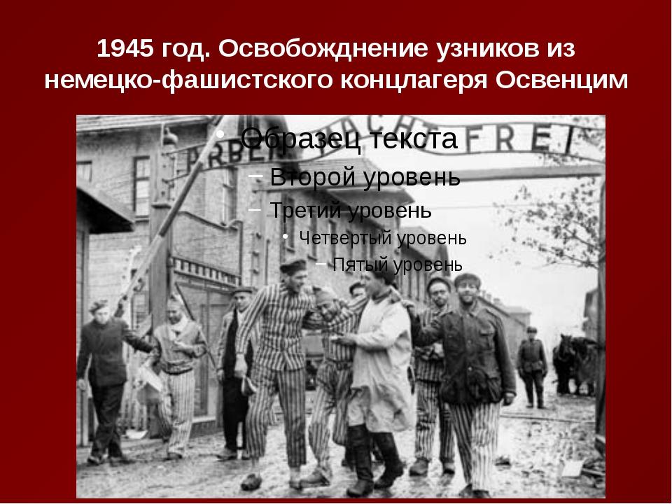 1945 год. Освобожднение узников из немецко-фашистского концлагеря Освенцим