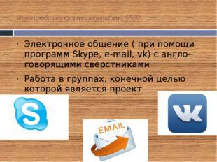 Формирование коммуникативных УУД Электронное общение ( при помощи программ Sk