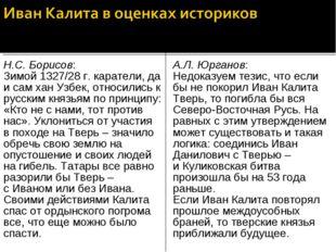Н.С. Борисов: Зимой 1327/28 г. каратели, да и сам хан Узбек, относились к рус