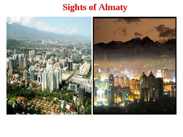 Sights of Almaty