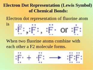 Electron Dot Representation (Lewis Symbol) of Chemical Bonds: Electron dot re