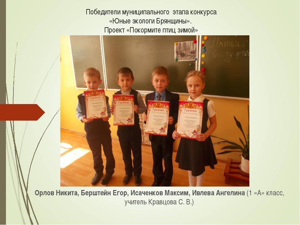 Победители муниципального этапа конкурса «Юные экологи Брянщины». Проект «Пок...