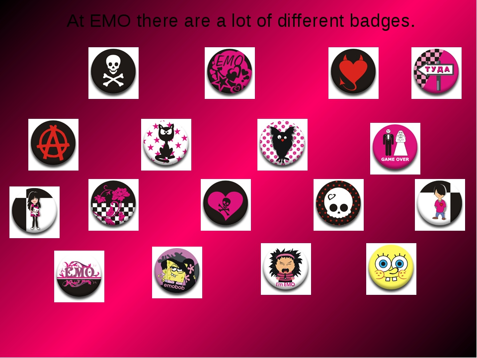At ЕМО there are a lot of different badges.