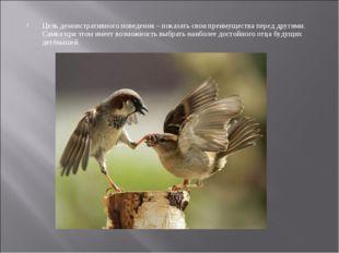 Цель демонстративного поведения – показать свои преимущества перед другими. С