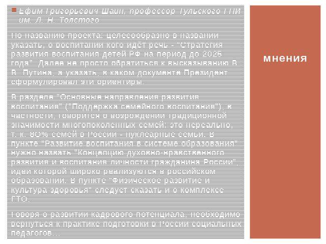 Ефим Григорьевич Шаин, профессор Тульского ГПИ им. Л. Н. Толстого По названию...