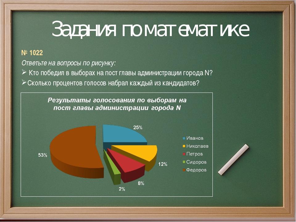 Задания по математике № 1022 Ответьте на вопросы по рисунку: Кто победил в вы...