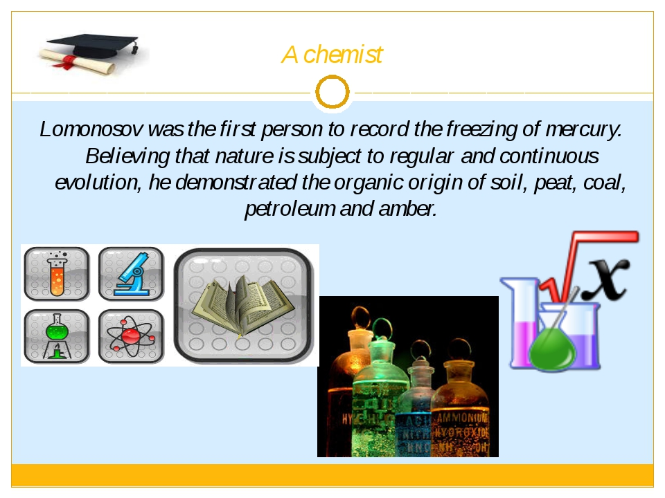 A chemist Lomonosov was the first person to record the freezing of mercury. B...