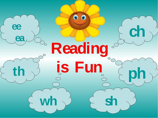 Reading is Fun th wh sh ph ch ee ea