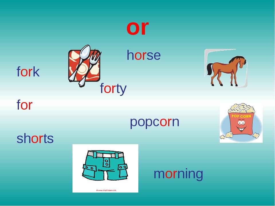 or horse fork forty for popcorn shorts morning