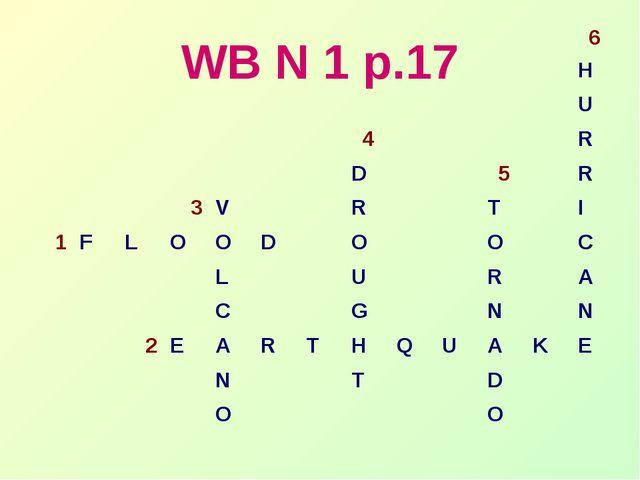 WB N 1 p.17 6 H U 4R D...