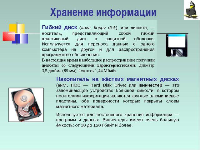 Гибкий диск (англ. floppy disk), или лискета, — носитель, представляющий собо...