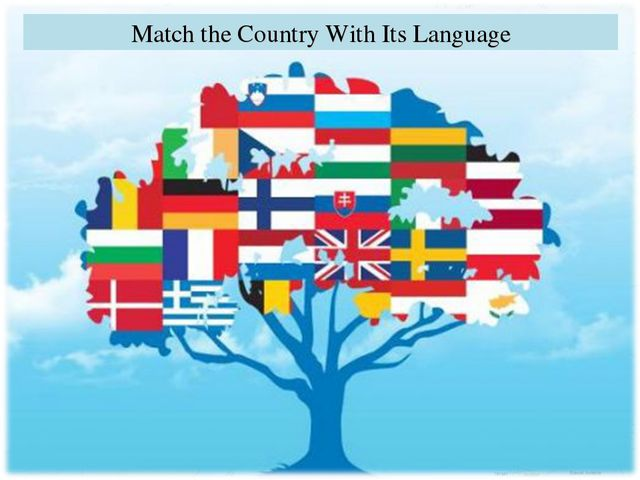 Match the Country With Its Language